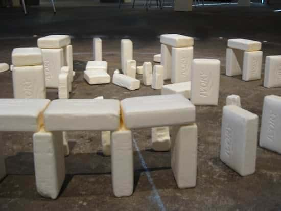 Soap Henge in art  with soap Recycled Art