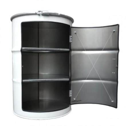 Metal barrel cupboard
