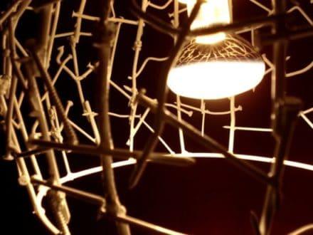 Nails & concrete lamp