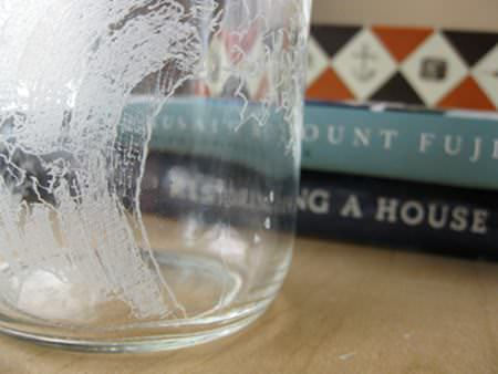 Jar Glass Etching Recycled Art Recycled Glass