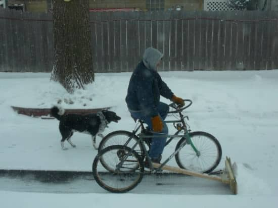 DIY : pedal powered snow plow in diy bike friends  with snow Bike
