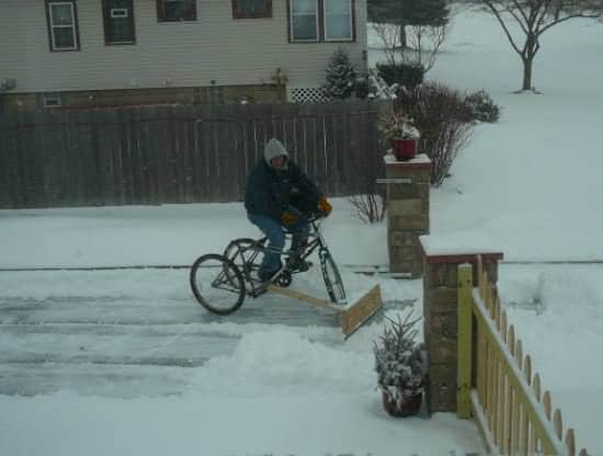Diy : Pedal-powered Snow Plow Bike & Friends Do-It-Yourself Ideas