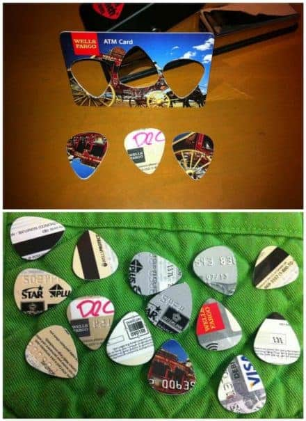 Any Plastic Card Into Guitar Picks