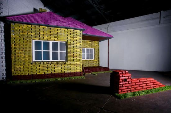 Eggo Exhibition: House Built Out of Recycled Egg Cartons Recycled Art Recycled Packaging