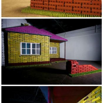 Eggo Exhibition: House Built Out of Recycled Egg Cartons