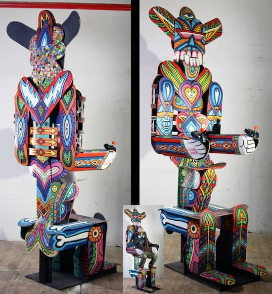 Peruvian Skateboard Art Recycled Art Recycled Sports Equipment