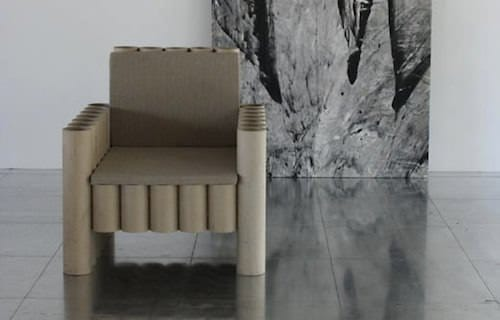 Repurposed Paper Tube Chair Recycled Cardboard Recycled Furniture