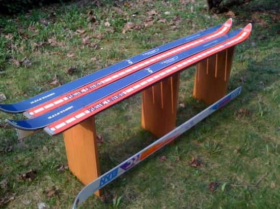 Ski Bench Recycled Furniture Recycled Sports Equipment
