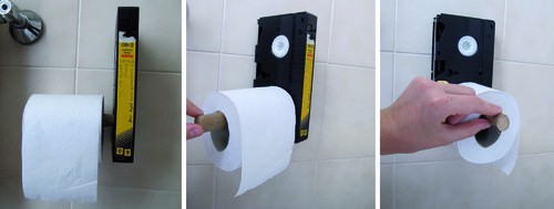 Toilet VHS: Which Movie Will You Choose? Accessories Recycled Electronic Waste