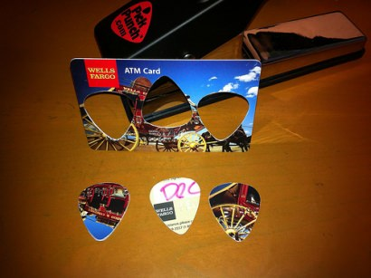 Any card –> guitar picks