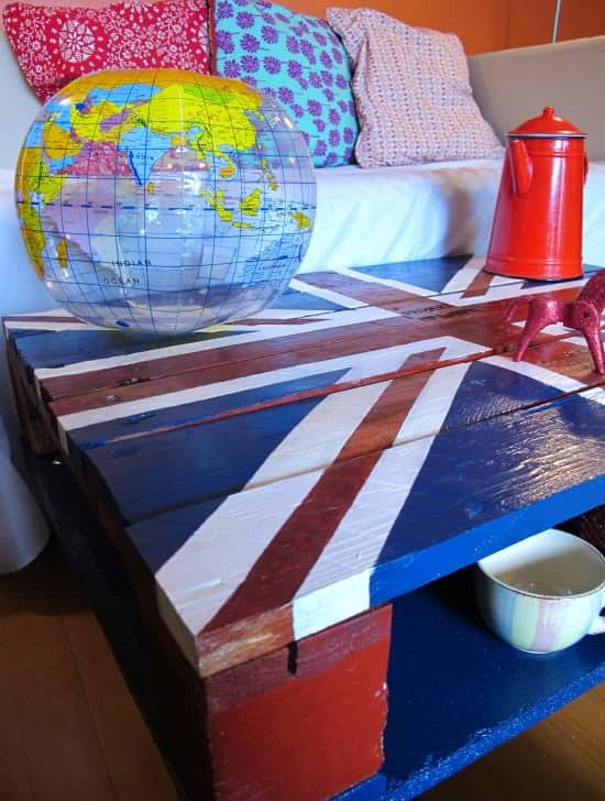 God Saved My Pallet: Union Jack Coffee Table Recycled Furniture Recycled Pallets
