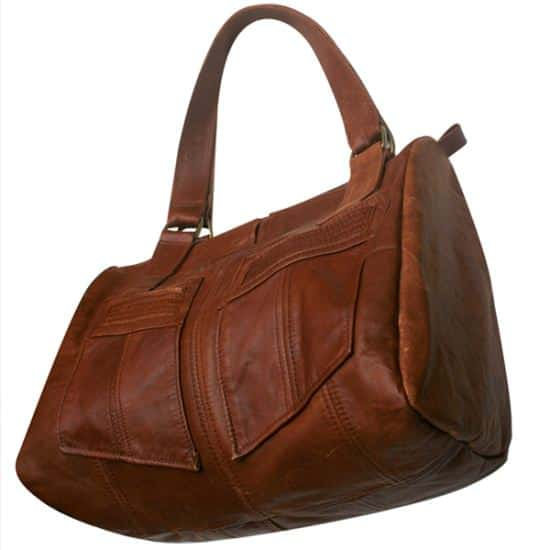 noid Re243b 100% upcycled leather bags in wood accessories  with leather Bags