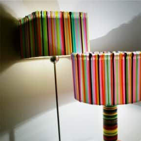 Plastic cups &#038; straws lamps