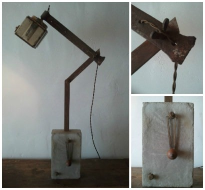 Upcycled Coffee Grinder Lamp