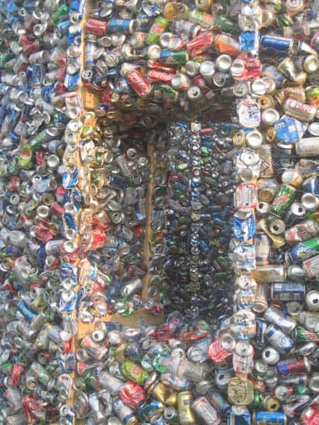 Up-cycling Cans House Home Improvement Interactive, Happening & Street Art Recycled Packaging