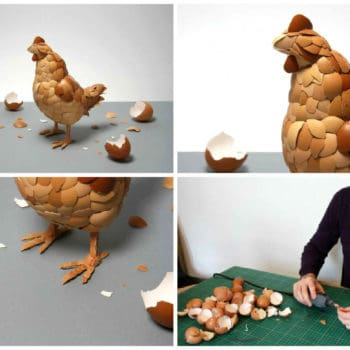 Eggshell Sculpture: What Came First ?