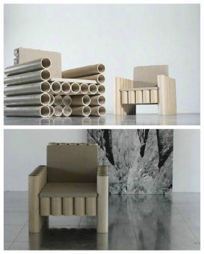 Repurposed Paper Tube Chair