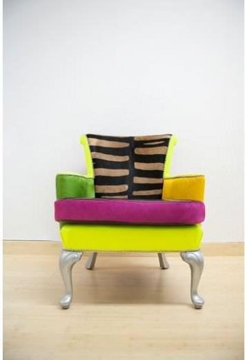 Scrap fabric chairs