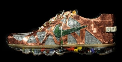 Nike Air Max sneakers made from old computers part