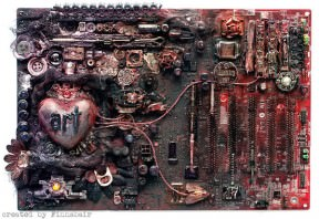 Computer motherboard art