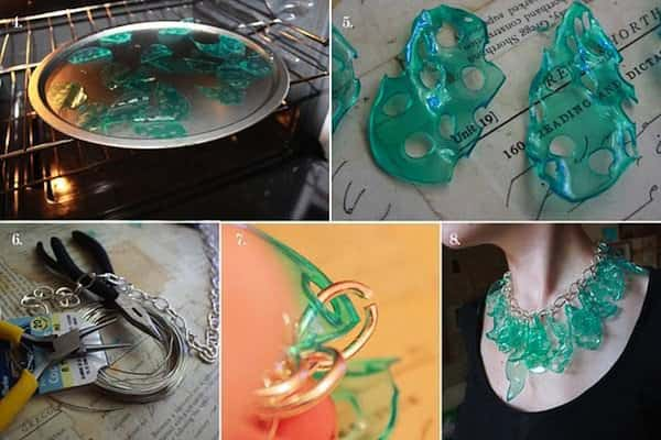 Diy : Candy Necklace from Plastic Cups Accessories Recycled Plastic Upcycled Jewelry Ideas