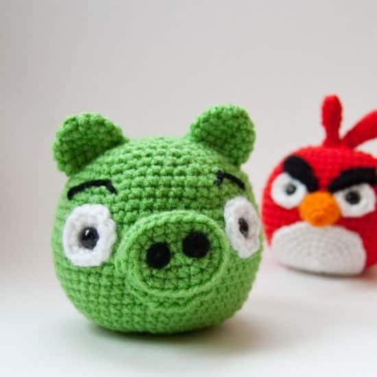 angrybirds crochet DIY : crocheted Angry Birds  in fabric diy  with Game DIY Crochet