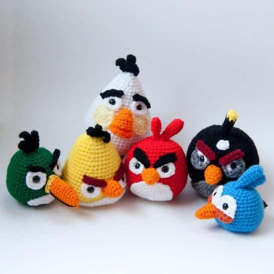 DIY : crocheted Angry Birds  in fabric diy  with Game DIY Crochet