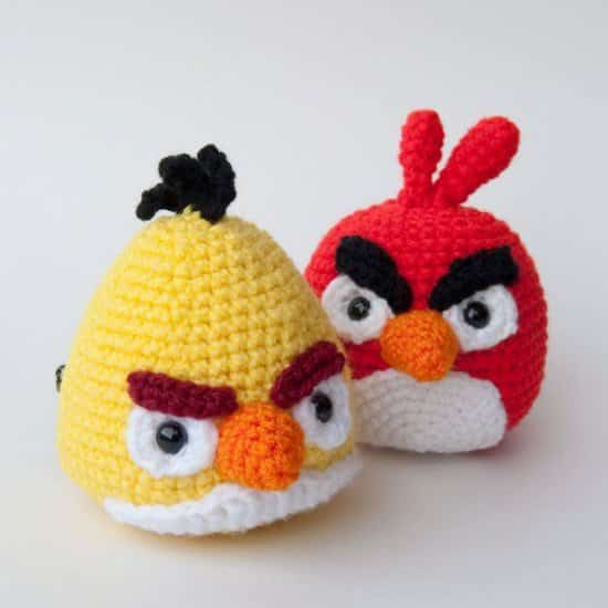 angrybirds crochet3 DIY : crocheted Angry Birds  in fabric diy  with Game DIY Crochet