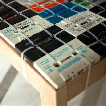 Cassette Tapes Chair Recycled Electronic Waste Recycled Furniture