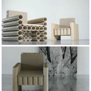 Repurposed Paper Tube Chair