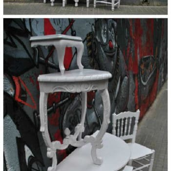 Tower Table From Disused Furniture