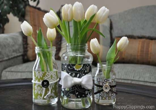 DIY: Repurposed Glass Jar Do-It-Yourself Ideas Recycled Glass