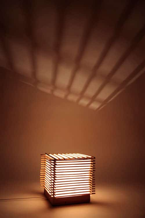 Chopstick Lamp Lamps & Lights Wood & Organic