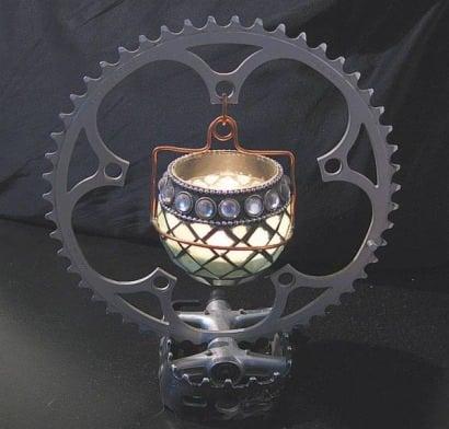 Bike candle holder