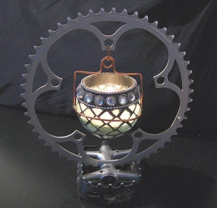 Bike candle holder