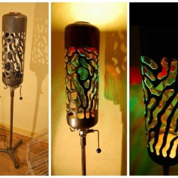 Upcycled Flushing Cistern Into Lamp