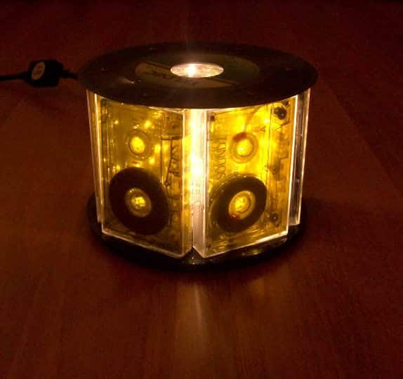 Cassettes-Delight Accessories Lamps & Lights Recycled Furniture Recycled Plastic Recycled Vinyl