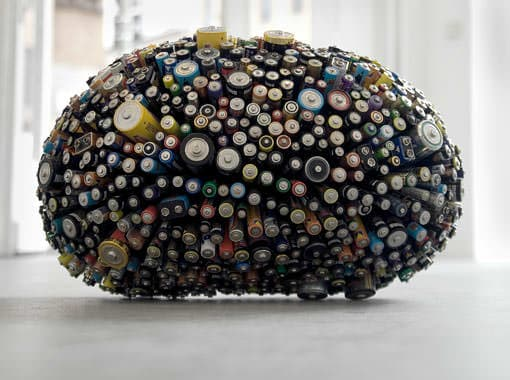 Dead Star in electronics art  with Electronics & E Waste Battery Art