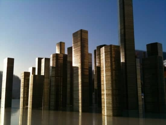 Staples City By Roger Albani Recycled Art