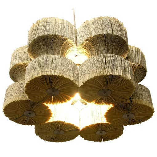 Books Chandelier Lamps & Lights Recycling Paper & Books