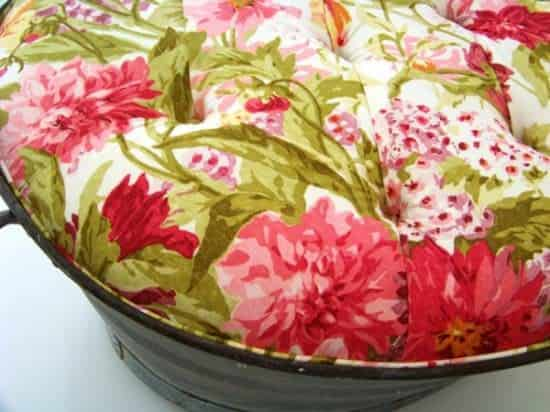Upholstered Ottoman Tub Clothing Recycled Furniture Recycling Metal