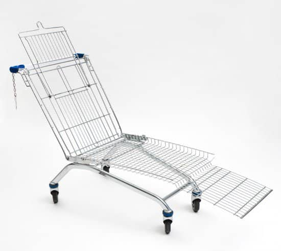 Shopping Cart Lounger Recycled Furniture Recycling Metal