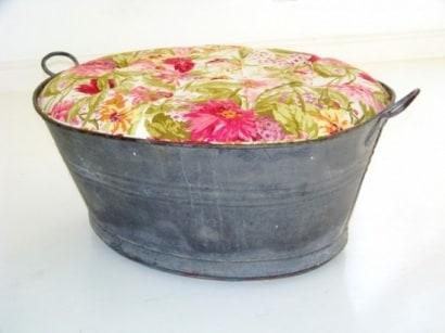 Upholstered Ottoman Tub