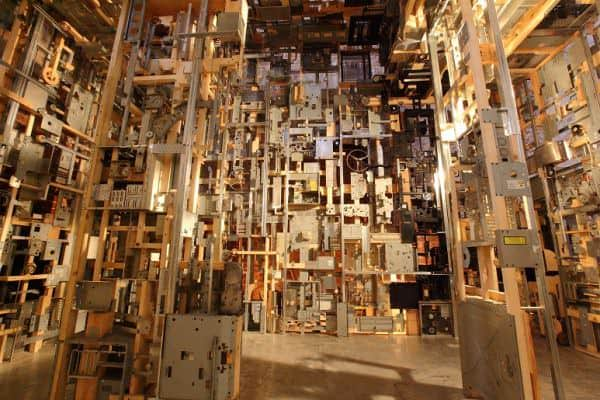 Spectacular Dead Computers Room Installation ! Recycled Art Recycled Electronic Waste