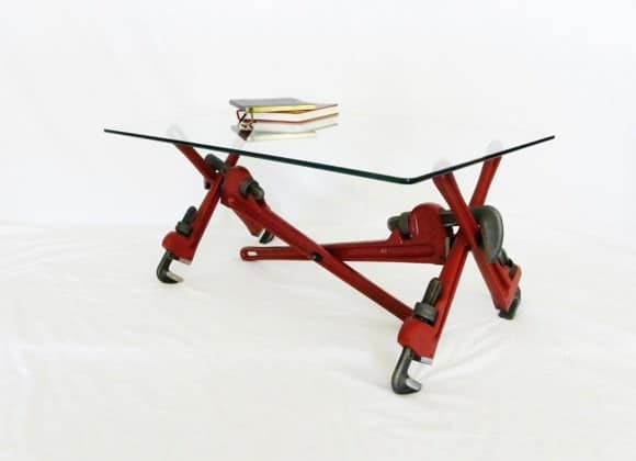 Pipe Wrench Coffee Table Recycled Furniture
