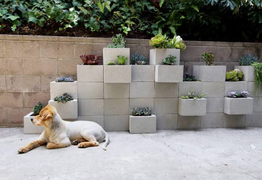 Diy: Modern Planter From Upcycled Cinder Blocks Do-It-Yourself Ideas Garden Ideas