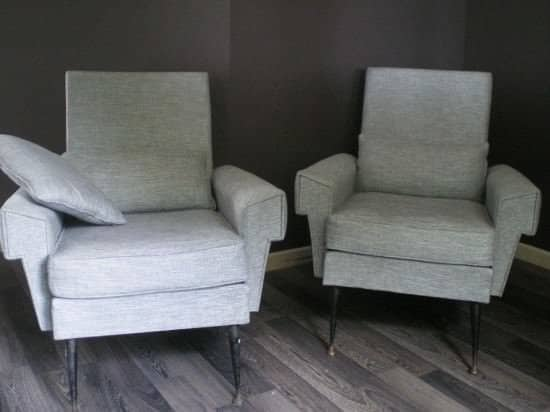 Before/After in furniture fabric  with Armchair