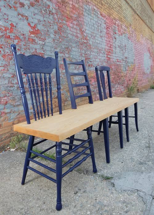 Green Avenue bench collection in furniture  with Upcycled Furniture Chair Bench