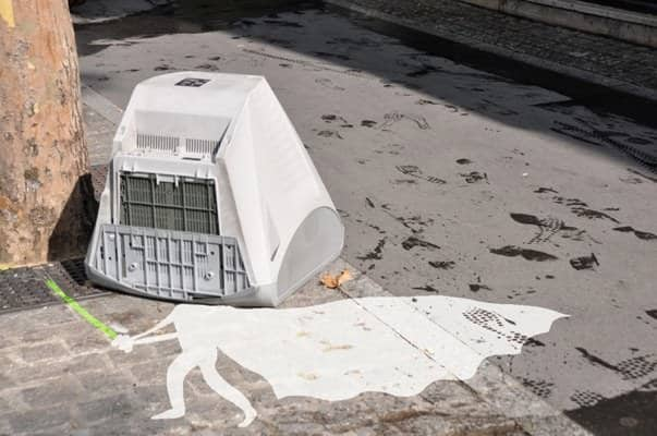 White Vador Interactive, Happening & Street Art Recycled Art Recycled Electronic Waste