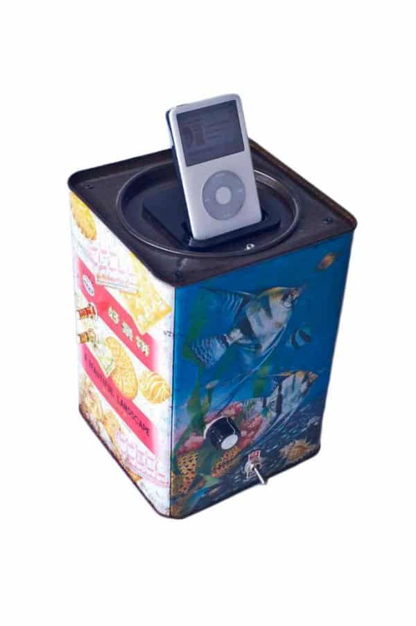 iPod biscuit box amplifier Recycled Electronic Waste Recycled Packaging Recycling Metal